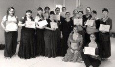 The class with their diplomas