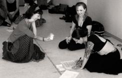 Carolena and Megha signing the General Skills diploma