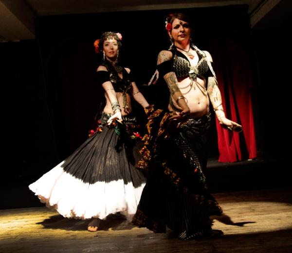 Jorunn and Kristine Adams at Tribal Night 2014