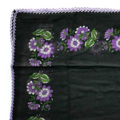 shawl-turkish-flower-print-black-purple-detail