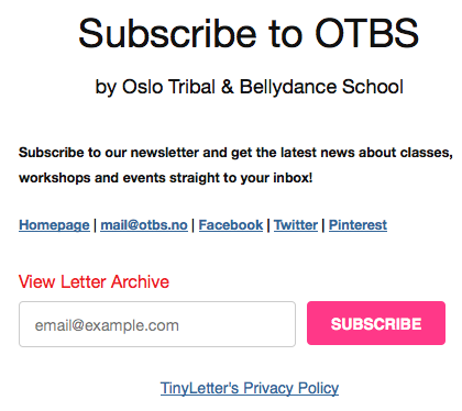 Oslo-Tribal-Bellydance-School-newsletter